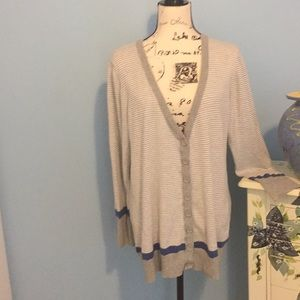 Buttoned down sweater